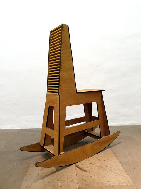 Julio Blancas, 'Rocking stool chestbox', 2019, Galería Artizar