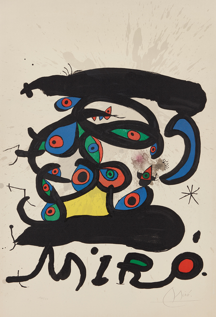 Joan Miró, 'Poster for the exhibition 'Peintures sur papier, dessins' ('Paintings on Paper, Drawings')', 1971, Phillips