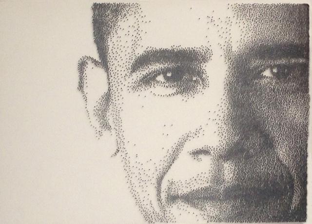, 'President Obama,' 2014, Joshua Tree Art Gallery