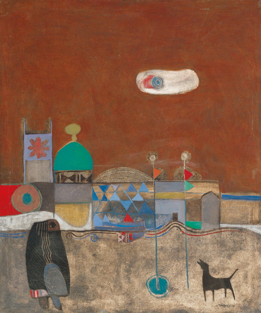 Dia Azzawi, 'Visit of al-Kassim,' 1968, Meem Gallery