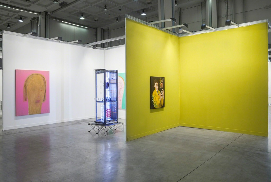 Simon Denny, Patrizio Di Massimo, Lorenzo Scotto di Luzio. Installation view at Miart 2016, 8-10 Aprile 2016 . Photo credit: Sebastiano Pellion di Persano