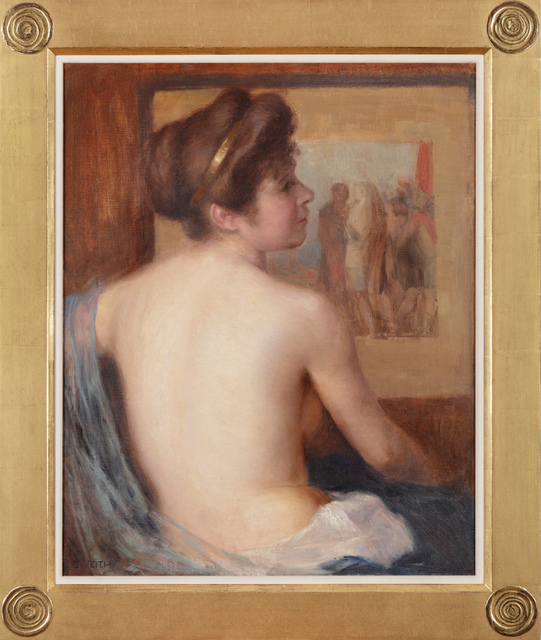 , 'Sitting Half-naked Girl,' , Adolf Loos Apartment and Gallery