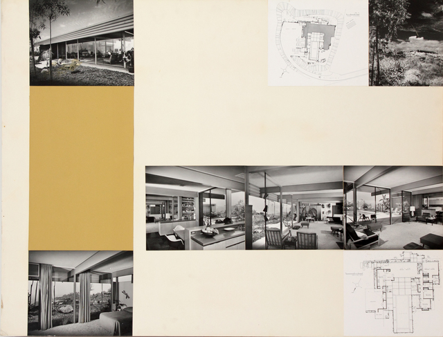 , 'Presentation panel for Nordlinger Residence, #2, Los Angeles, Bel Air, CA with vintage original photographs by Julius Shulman,' 1948, Edward Cella Art and Architecture
