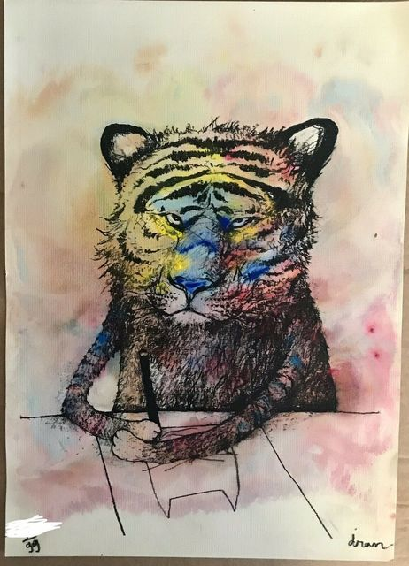 "dran, 'DRAN ""SECRET TIGER"" MULTICOLURED PRINT HAND SIGNED & NUMBERED BY ARTSIT', 2016, Arts Limited"