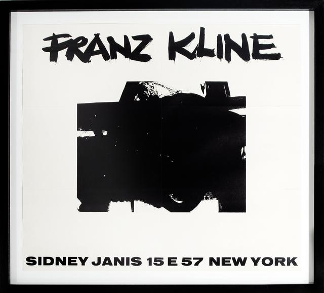 Franz Kline, 'Sidney Janis Invitation Announcement', 1956, Woodward Gallery