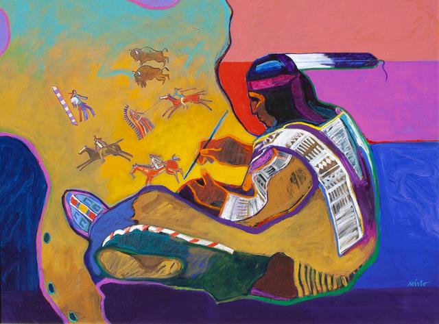 , 'Buffalo Hide Painting,' ca. 2018, Ventana Fine Art
