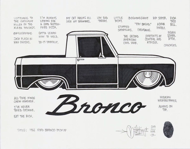 , '66 Ford Bronco Pickup,' 2017, Black Book Gallery