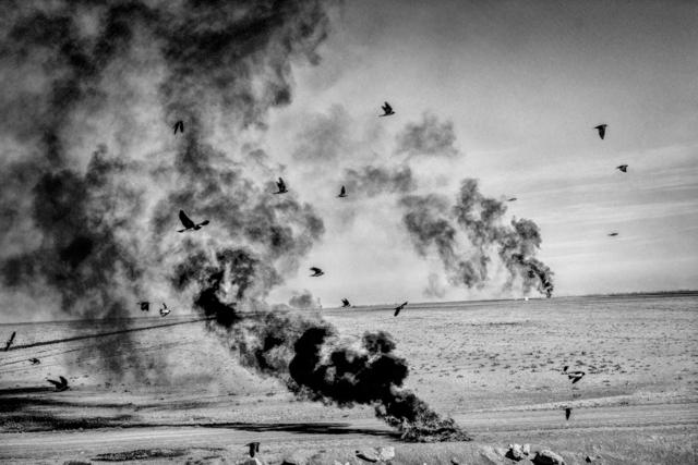 , '  Burning tires. Corcoran, CA.,' 2014, Anastasia Photo