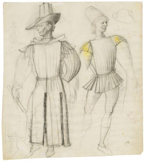 , 'Scenography drawing: costumes,' 1949, Artur Ramon Art