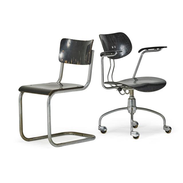 Mart Stam, 'Armchair And Side Chair, Austria', 20th C., Rago/Wright