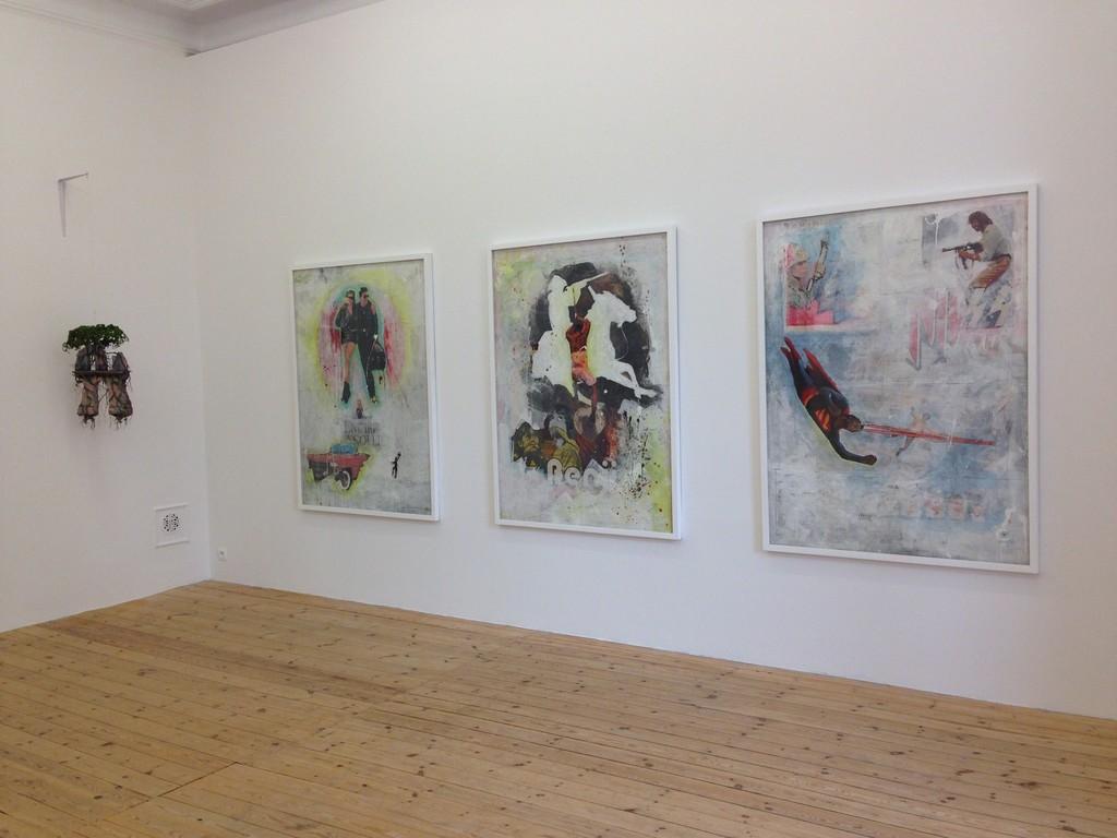 Installation view, Jorge Mayet and Virgina Ryan