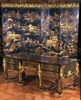 , 'Exceptional bureau with Indian heads and Daphne masks,' ca. 1692-1695, Steinitz