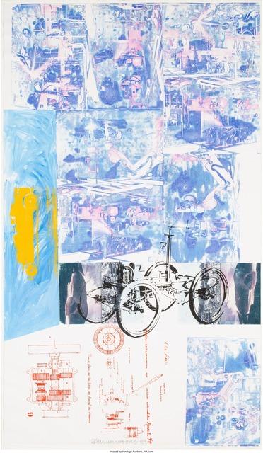 Robert Rauschenberg, 'Azure Reef (Renault Paper Work)', 1984, Heritage Auctions