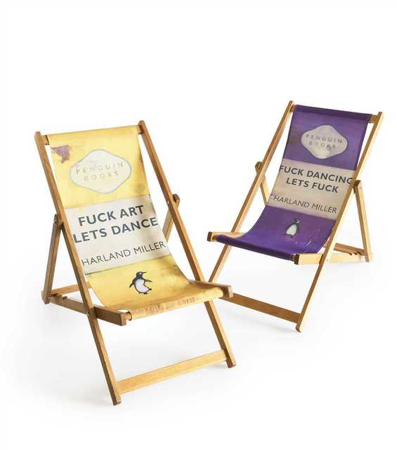 Harland Miller, 'Fuck Art Let's Dance/Fuck Dancing Lets Fuck (Deck Chair's)', 2013, Tate Ward Auctions
