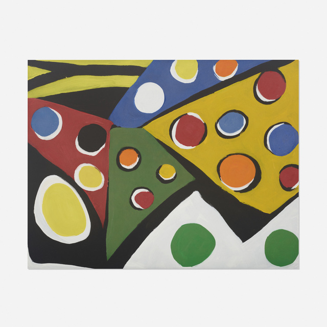 Kim MacConnel, 'Maquiladora', 1989, Painting, Cotton flocking and acrylic on canvas, Rago/Wright