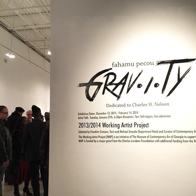 "Fahamu Pecou ""GRAV-I-TY"" installation at the Museum of Contemporary Art of Georgia (MOCAGA), Atlanta, GA"