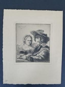 Rembrandt van Rijn, 'Self portrait with Saskia', 1634, Tranter-Sinni Gallery