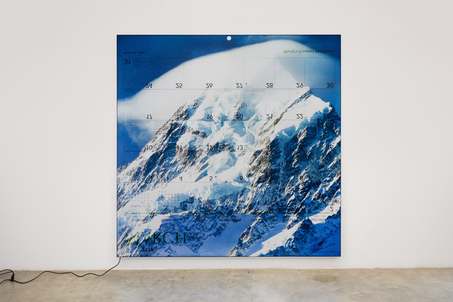 Mungo Thomson, 'World's Greatest Mountains 2019 (March)', 2019, galerie frank elbaz