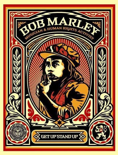 Shepard Fairey (OBEY), 'Bob Marley Stamp', 2004, KP Projects