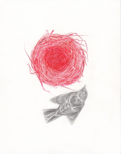 , 'Red Sparrow Nest,' 2017, Cerulean Arts