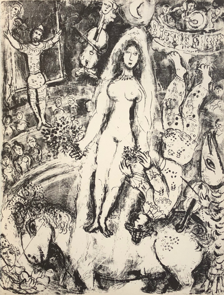 Marc Chagall, 'Le Cirque M. 518', 1967, Print, Original Lithograph on Velin d'Arches Wove Paper, Galerie d'Orsay