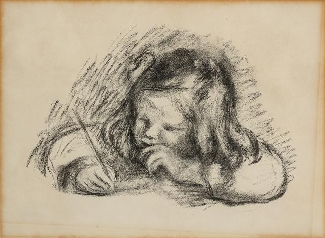 Pierre-Auguste Renoir, 'Le petit garcon au porte-plume (Claude Renoir ecrivant)', Print, Lithograph, Hindman