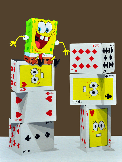, 'The tower of card - Sponge Bob,' , Gallery A