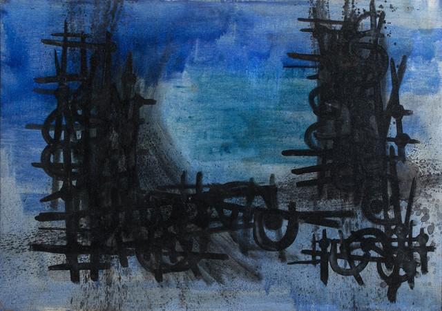 Cesare Peverelli, 'Blue composition', Finarte