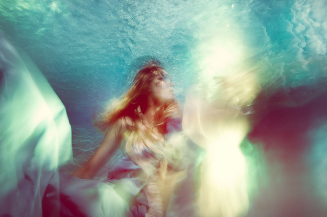 ", 'As if you'd see the light ""Underwater Photography"",' 2013, Wide Painting"