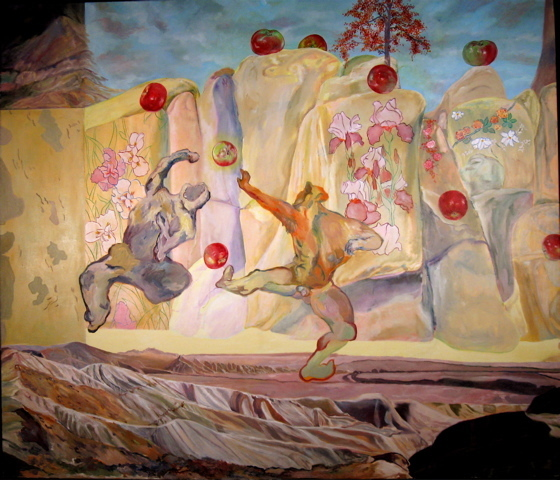 , 'Rock N Roll Apple - Panel 2 of Creation Triptych,' 2009, Elisa Contemporary