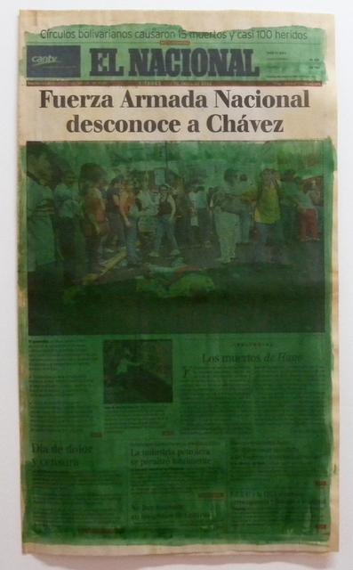 , 'Serie La verdad no es noticia (Fuerza Armada Nacional desconoce a Chávez),' 2016, Carmen Araujo Arte