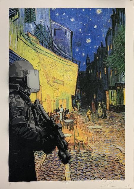 Luke Cornish (ELK), 'Paris cafe scene', 2019, NextStreet Gallery