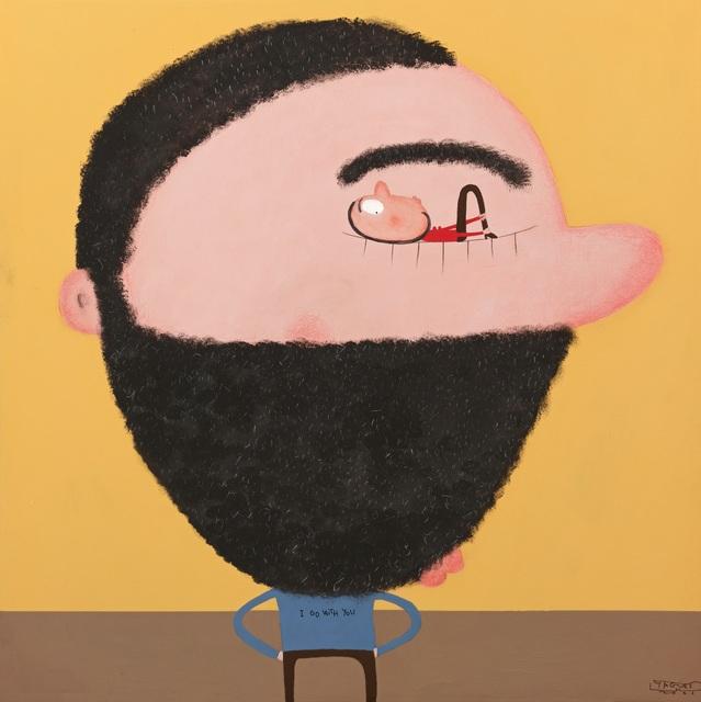 Moisés Yagües, 'Yo voy contigo', 2021, Painting, Mixed media on board, Galería Marita Segovia