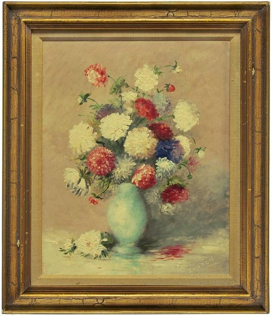 Unknown, 'Untitled (Bouquet of Flowers in a Blue Vase)', 20th Century, Lions Gallery