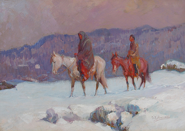 , 'Snow Covered Trail,' ca. 1915, Caldwell Gallery Hudson