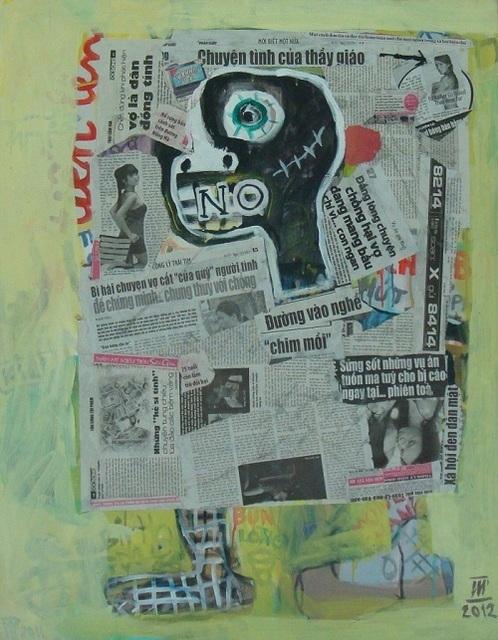 , 'Reading Newspaper 2,' 2012, Ai Bo Gallery