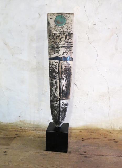 , 'Raku Standing Stone,' 2017, Sladers Yard