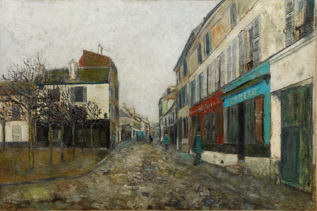 Maurice Utrillo. Place de l'église à Montmagny