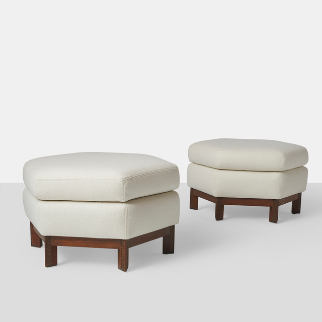 , 'Pair of Ottomans by Frank Lloyd Wright,' ca. 1955, Almond & Co.