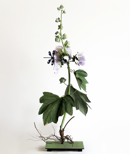 , 'Lilac Hollyhock with Dragonfly,' 2019, Octavia Art Gallery