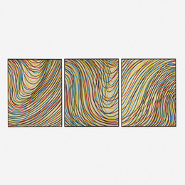 Wavy Lines on Gray (triptych)