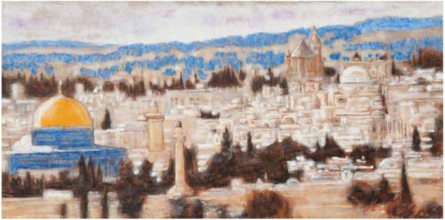 , 'Jerusalem - Original Painting,' 2018, Newport Brushstrokes Fine Art