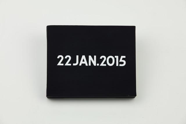 , 'On Kawara, Today Series, 22JAN.2015,' 2015, MadeIn Gallery