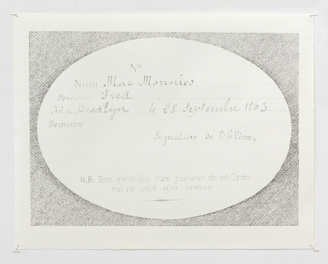 , 'Membership card,' 2018, Grant Wahlquist Gallery