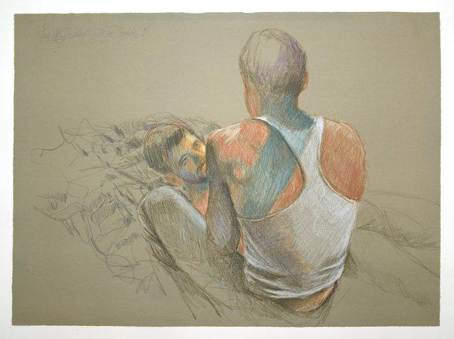 , 'Zwei Männer auf demm Bett,' , Galerie Kornfeld