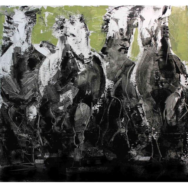 , 'Horses,' , Exhibit by Aberson