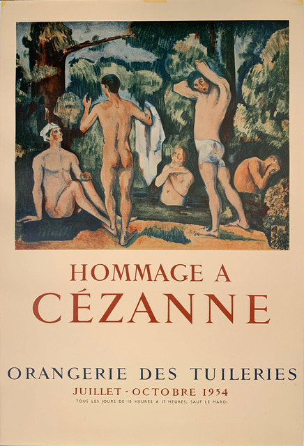 Paul Cézanne, 'Hommage A Cezanne, Orangerie des Tuileries Poster, Gallery Poster ', 1954, Posters, Original Vintage Stone Lithographic Poster, David Lawrence Gallery