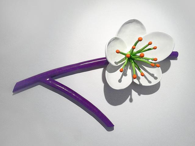 Thomas Stimm, 'Große Blüte, (Blüte mit Zweig)', 2015, Sculpture, Aluguss, Autolack lackiert, Galerie Andreas Binder