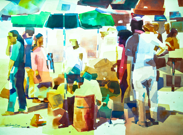 , 'Sunday Morning Market,' 2000, Affinity ART