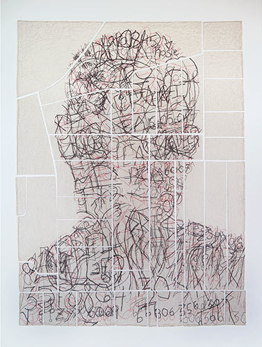 , 'DJ (Graffiti Map),' 2011, Reynolds Gallery